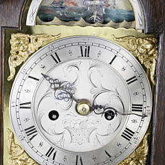 Archibald Coates Wigan George III Mahogany Grandmother's Clock, 18th Century