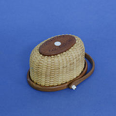 Dale Rutherford Miniature Nantucket Oval Swing Handled Basket