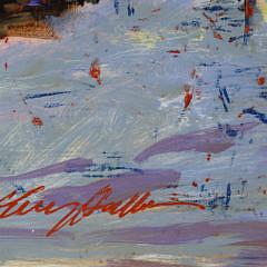"Kerry Hallam Oil on Artist Board ""Street Scene"""