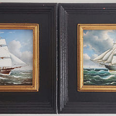 38-4962 Pair Ship Paintings A