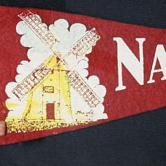 Two Vintage Felt Nantucket Pennant Flags