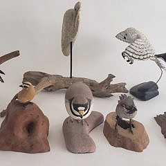 Collection of 8 Hand Carved and Painted Bird Decoys