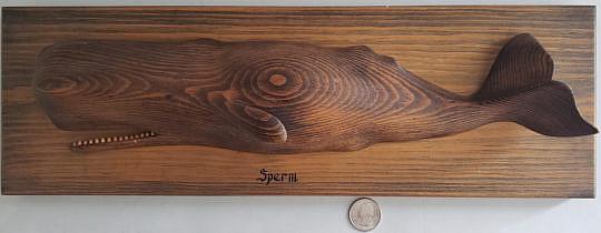 2430-955 William Dickson Sperm Whale Carving A