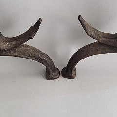 Vintage Cast Iron Anchor and Ship Andirons