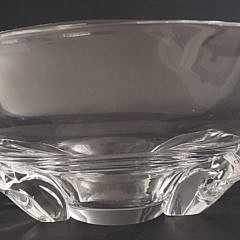 Signed Steuben Clear Crystal Centerpiece Bowl