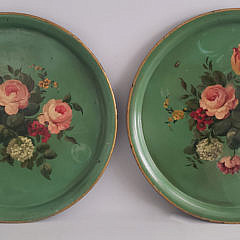 122-4795 Pair French Tole Platters A