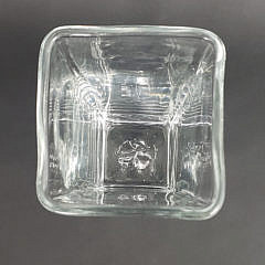 Simon Pearce Clear Crystal Cube Form Vase