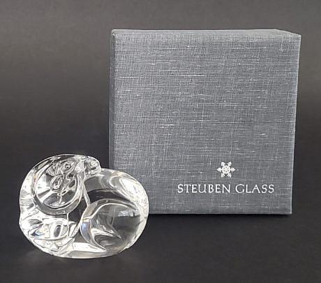 590-1865 Steuben Ram Paperweight A