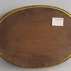 Antique French Tole Paint and Floral Decorated Oval Serving Tray
