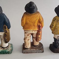 Three Vintage Cast Iron Old Salt Fisherman Doorstops