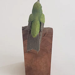 Jim Hazeley Hand Carved and Painted Miniature Model of a Hummingbird