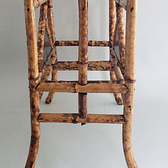 Vintage Bamboo Lacquered Magazine Rack