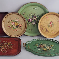 124-4795 Seven French Tole Trays A