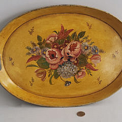 123-4795 French Tole Painted Tray A