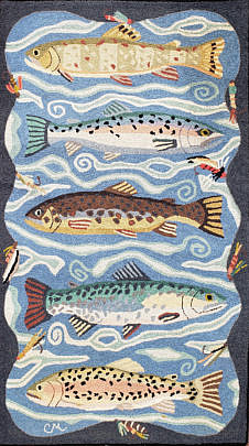 2427-955 Claire Murray Fish Rug A