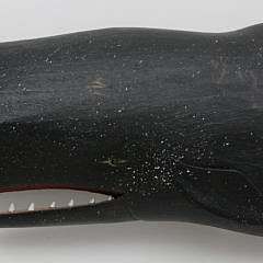 Gus Mirando Carved Wood Sperm Whale