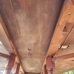 English Oak Oval Gate Leg Drop Leaf Dining Table