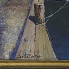 "James Francis Barker Oil on Canvas ""The Endeavor – Nantucket"""