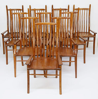 1-4996 10 Signed Stephen Swift High Back Dining Chairs A_MG_1477