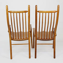 Set of 10 Stephen Swift Cherry High Back Dining Chairs