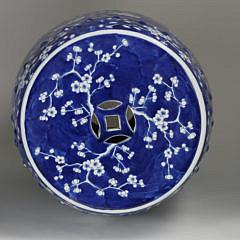 Chinese Porcelain Apple Blossom Garden Stool, 20th Century