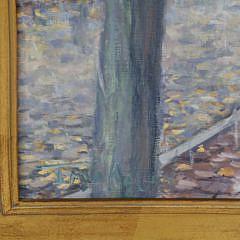 """Illya Kagan Oil on Linen """"Rainy Day Nantucket"""""""