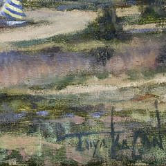 "Illya Kagan Oil on Canvas ""Yachting Day – Nantucket Harbor"""