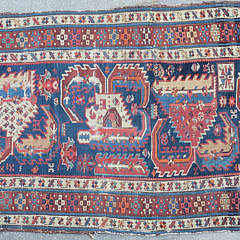 Antique Caucasian Kazak Carpet, circa 1880