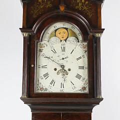 Federal Inlaid Mahogany Tall Case Clock, New Jersey, circa 1800