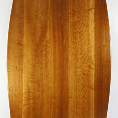 Large Stephen Swift Cherry Oval Trestle Dining Table