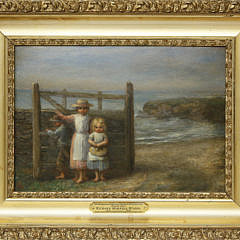"Richard Morrell Staigg Oil on Panel ""Seaside Gate"""