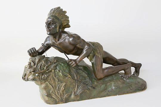275-4621 Bronze Sculpture Indian Scout A_MG_1343 2