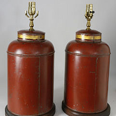 Pair of Tole Tea Canisters, 19th Century