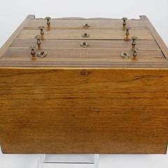 Late George III Inlaid Mahogany Tradesman's Sample Chest of Drawers, circa 1800