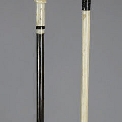 Two Whale Ivory Clenched Fist Pointers, circa 1860