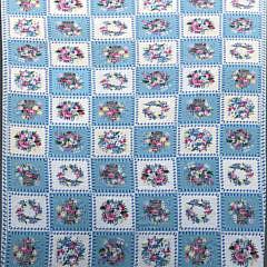 8-4914 Diamond & Baratta for Stark blue and white botanical needlepoint carpet Aa IMG_5139