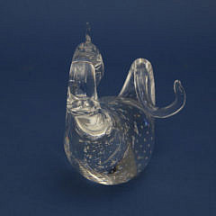 Signed Steuben Clear Crystal Dragon Designed by Bernard X. Wolff