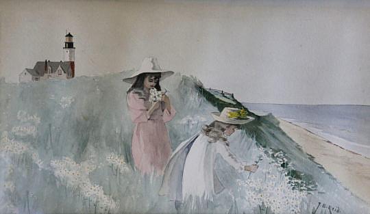 1-4988 J B Reid Watercolor Young Girls B_MG_0696