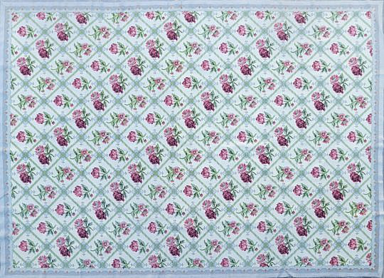 3-4970 Twin Rose Needlepoint A 20210507_155033