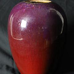 24-3583 Chinese Flambe-Glazed Vase A_2805