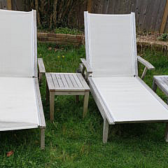 2465-955 Gloster Teak Chaise Lounges I