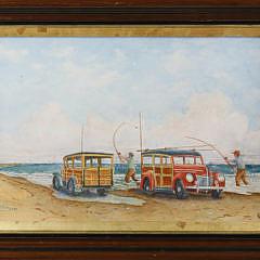 8-4837 John Hutchinson Watercolor Surfcasting at Great Point A_MG_2109