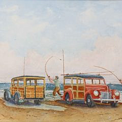 "John Hutchinson Watercolor on Paper ""Great Point Bonanza"""