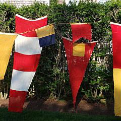 Group of Eight World War II U.S. Navy Nautical Signal Flags