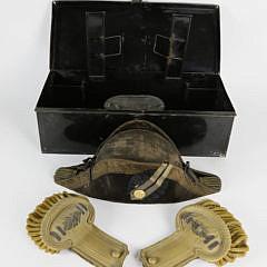 Military N. C. Barker, United States Navy Epaulets and Hat