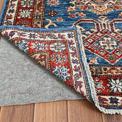 Hand Knotted Blue Afghan Wool Kazak Oriental Carpet