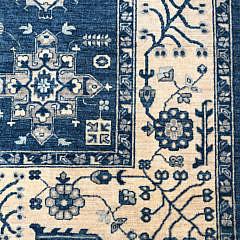 Hand Knotted Peshawar Carpet in a Karajeh Design