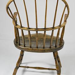 American Sack-Back Windsor Armchair, early 19th Century