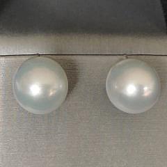 41447 Pair 13mm White South Sea Pearl Earrings A IMG_6790