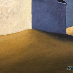 """Joan Albaugh Oil on Panel """"White House at Dusk"""""""